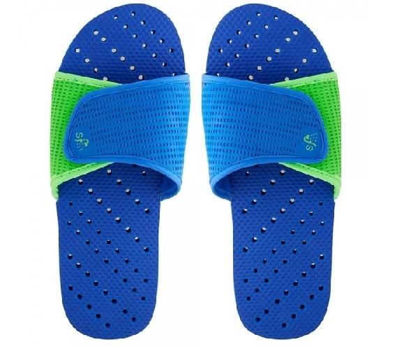 f8c3647365a72 Showaflops - Men s Antimicrobial Shower Sandal - Blue Lime Dorm Essentials  Dorm Necessities College Supplies