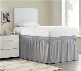 Ruffled Dorm Sized Bed Skirt - Alloy