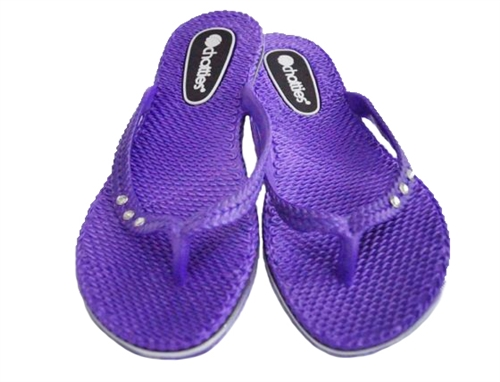 Must Have College Dorm Room Sandals Purple Chatties