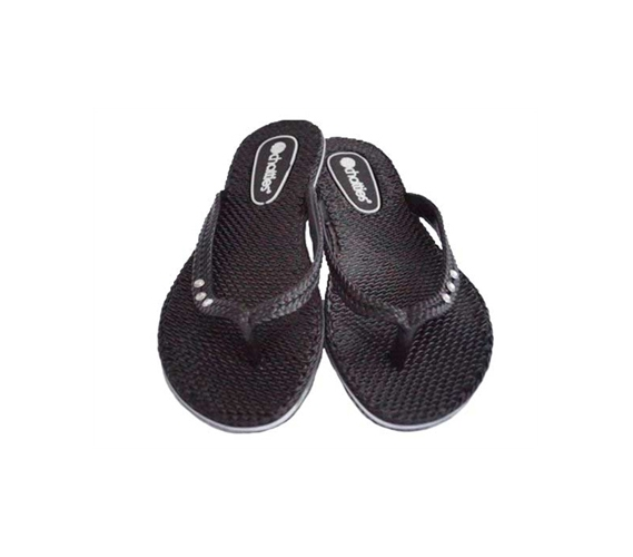 College Shower Flip Flops Black Chatties Shower Sandals