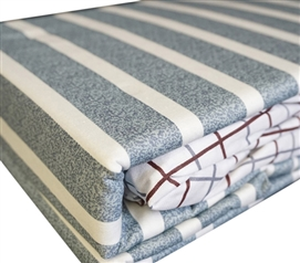 Classic Gray Stripes Twin XL Sheet Set Twin XL Bedding Dorm Bedding
