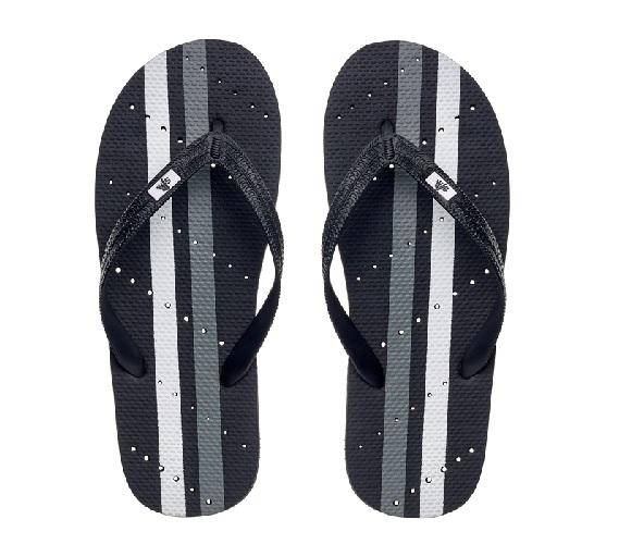 9b5a1f701cf5 Showaflops - Men s Antimicrobial Shower Sandal - Athletic Stripe