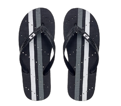 Showaflops - Men's Antimicrobial Shower Sandal - Athletic Stripe