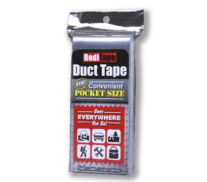 Pocket Size Duct Tape - Silver