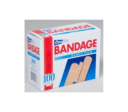 First Aid - Bandages - 100 Pack Assorted Sizes - Safety