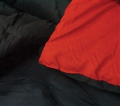 Cherry Red/Black Reversible College Comforter - Twin Extra Long Dorm Bedding