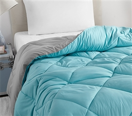 Aqua/Alloy Full Comforter