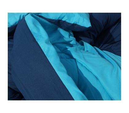 Aqua Nightfall Blue Reversible College Comforter Twin Xl