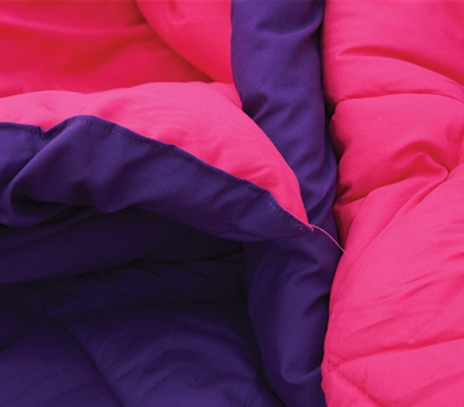 Downtown Purple/Knockout Pink Reversible College Comforter - Twin XL