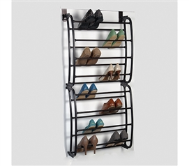 24 Pair Bronze Over The Door Shoe Rack Dorm Necessities Over The Door Storage Dorm Space Savers