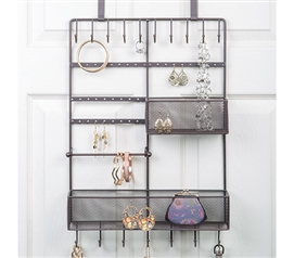 Over The Door Bronze Jewelry Organizer