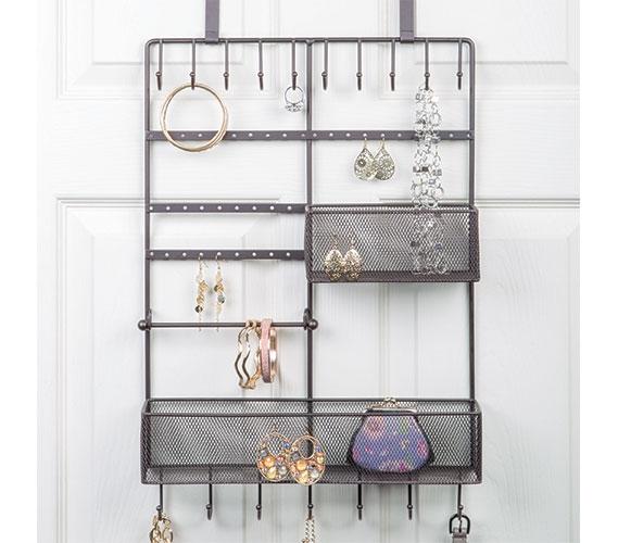 High Quality Over The Door Bronze Jewelry Organizer