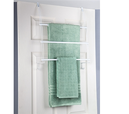 3 Tier Towel Holder - Over the Door College Essentials Dorm Necessities