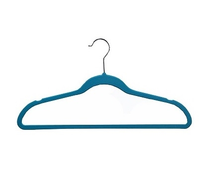 Ultra Thin Soft Grip Hangers - Blue - Pack of 25 Dorm Essentials College Supplies