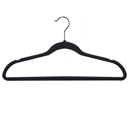 Ultra Thin Soft Grip Hangers - Black  - Pack of 25 Dorm Essentials College Supplies