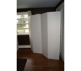 Dorm Divider (Privacy Room Divider) - White (2-Pack)