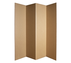 Dorm Divider (Privacy Room Divider) - Kraft (2-Pack)
