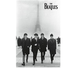Decor For Dorms - The Beatles - Eiffel Tower Poster - Best Items For College