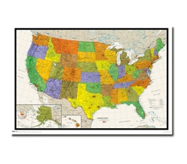 Know Your States With This US Map Poster