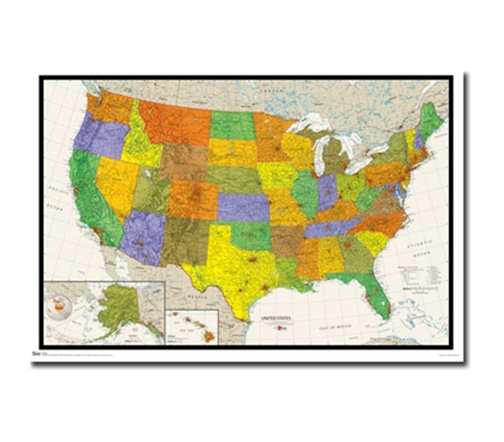 Dorm Room Essential For College US Map Poster - Us college map poster