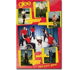 Musical Glee Poster For T.V. Show Fans