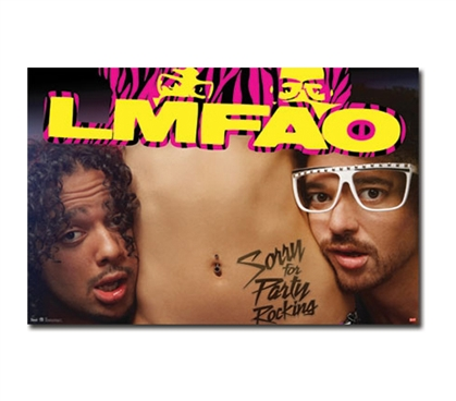 College Decor Essentials - LMFAO Poster - Decorate With Music Posters