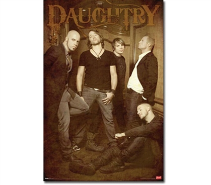 Cool Group Photo Of The Band - Daughtry 'Hallway' Poster