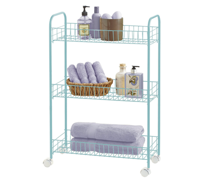 3-Tier Rolling Storage Cart - Mint