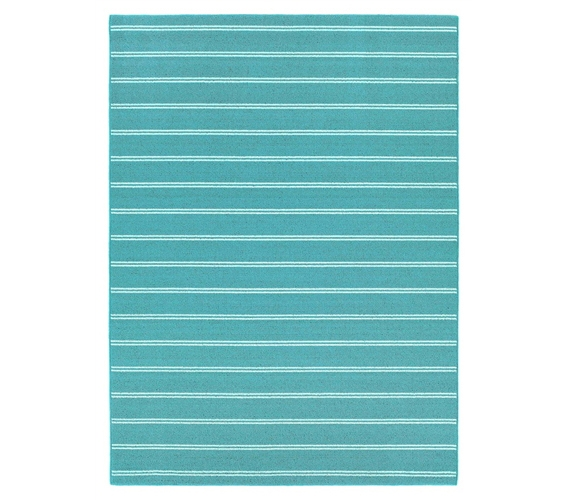 Classic Stripes College Rug   Teal Part 71