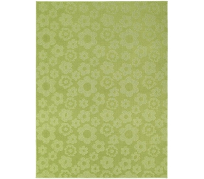 Fun Flowers Rug College dorm room rugs