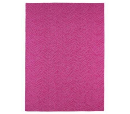 Add Color And Fun - Zebra 4' x 6' Rug - Pink - Great Floor Centerpiece