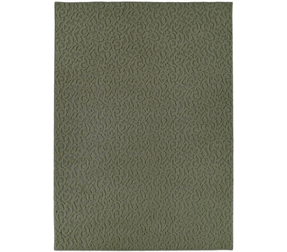College Ivy Rug - Dark Green College Rug Must Have Dorm Items