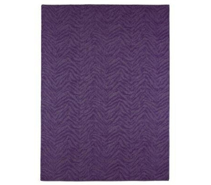 Rugs Are Dorm Essentials - Zebra 4' x 6' Rug - Purple - Cover That Bare Floor