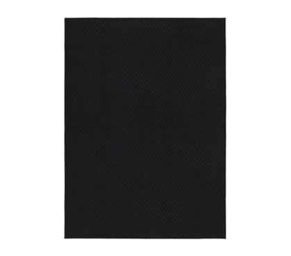 Make Your Dorm Room Look Better - Standard Black Dorm Rug - 5 x 7 - Rugs Bring Comfort And Character