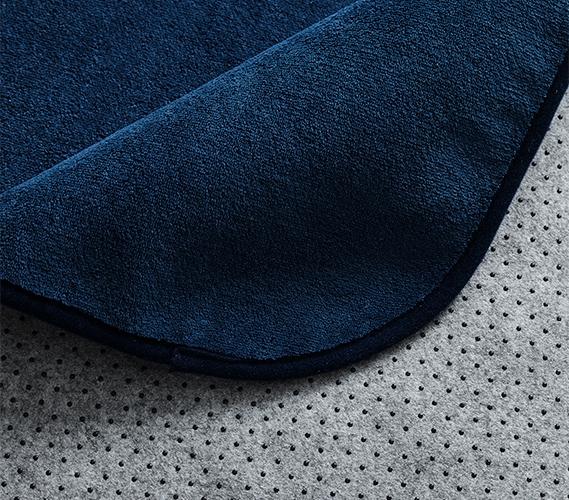Microfiber Dorm Rug   Navy Blue