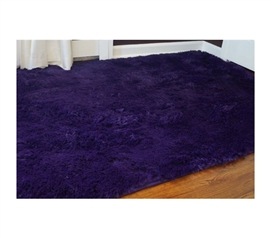 College Plush Rug - Downtown Purple - Super Soft For Your Feet