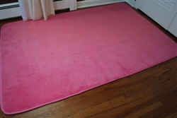 Cover Those Cold Floors - Microfiber Dorm Rug - Cherry Pink - Much Needed Dorm Supply