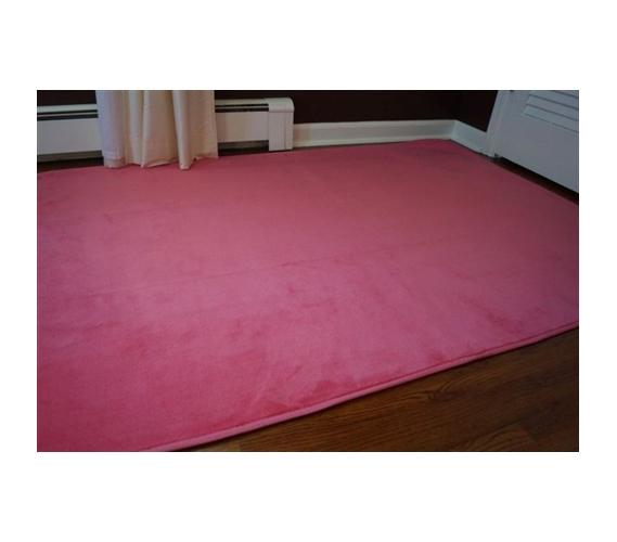 Microfiber Dorm Rug   Cherry Pink