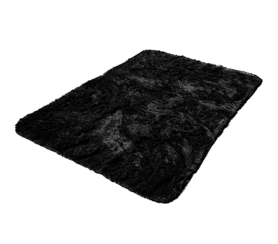 Softest Floor College Plush Rug Black Dorm Floor Decor