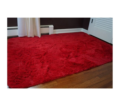Soft To The Touch - College Plush Rug - Redder than Red Dorm Decoration