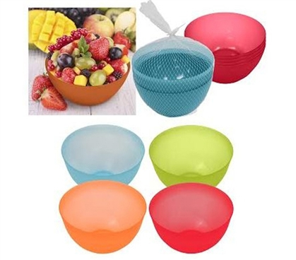 Essential Dorm Dishes - Fruity Bowl - Plastic Bowls - 4 Pack