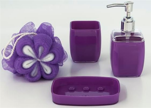 bathroom accessories set - 4 pieces