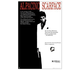 Scarface - One Sheet College Dorm Poster mob movie inspired college wall decorative poster for dorm rooms