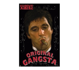 Scarface - Original Gangsta College Dorm Poster shows the best of the gangsters in this dorm room size poster