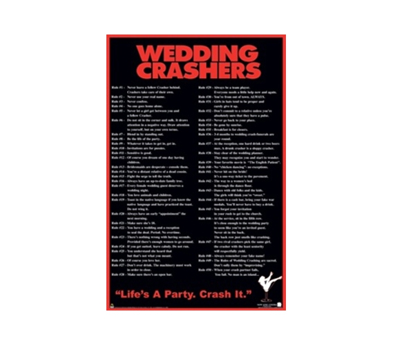 Wedding Crashers Funny College Dorm Wall Poster Humor Room