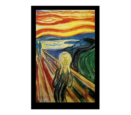 Edvard Munch Scream College Dorm Poster unique fine art The Scream dorm room decorating poster for college students