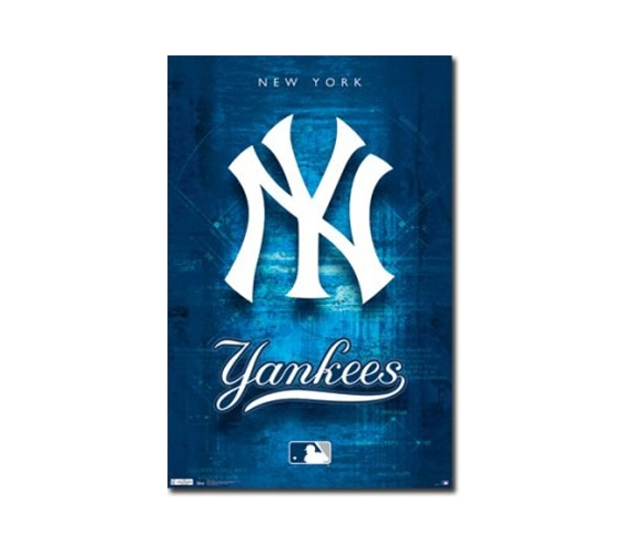 New York Yankees Logo Poster College Dorm Supplies Must