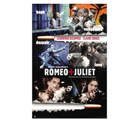 Romeo & Juliet Movie College Dorm Room Poster famous movie Romeo and Juliet on a dorm room perfect poster