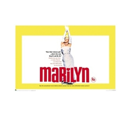 Marilyn Monroe - Diamonds Movie College Poster Famous old movie with Marilyn Monroe college room poster