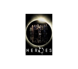 Heroes Group Shot College Dorm Room Poster Heroes cast crew poses in this college dorm room decorating poster